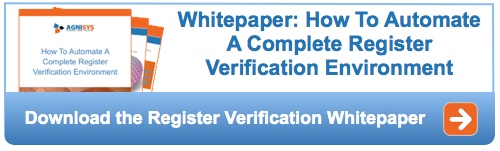 Semiconductor register verification automation