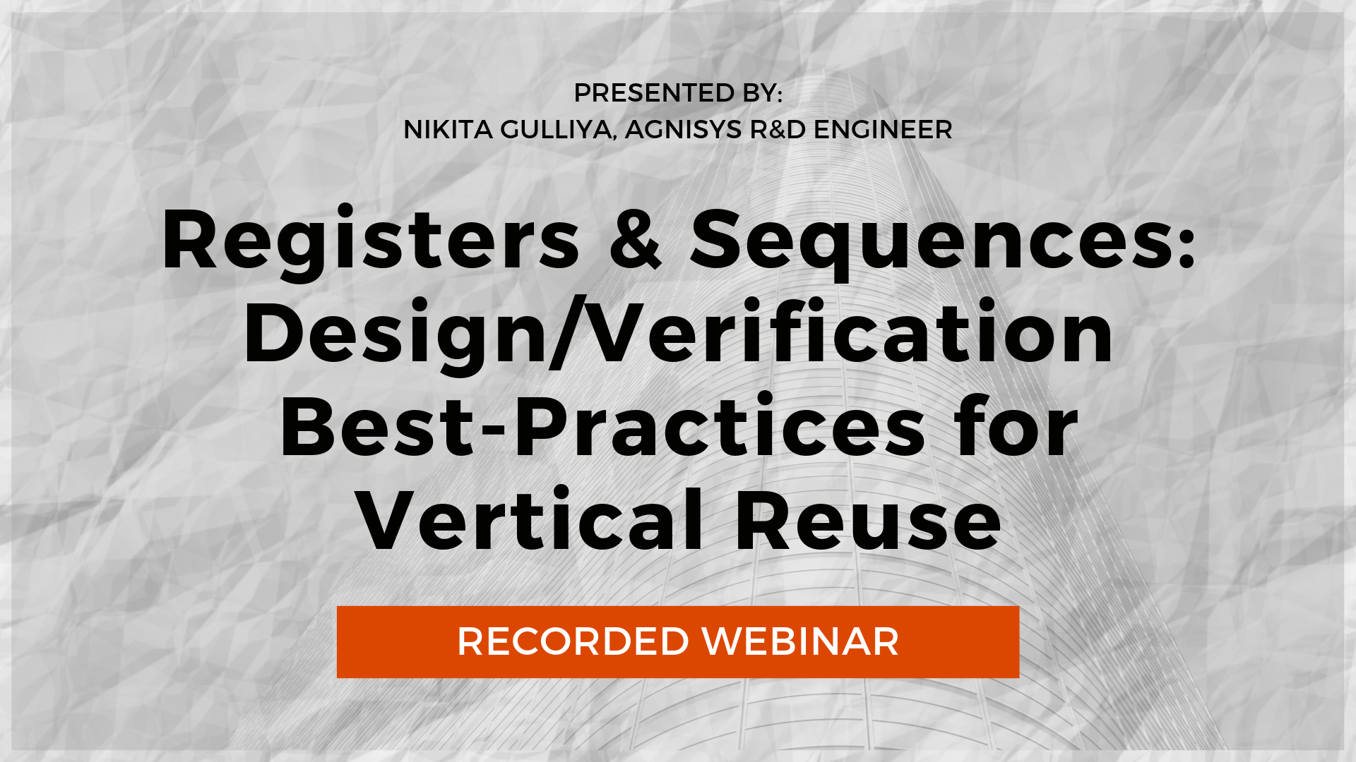 Recorded Webinar Registers and Sequences