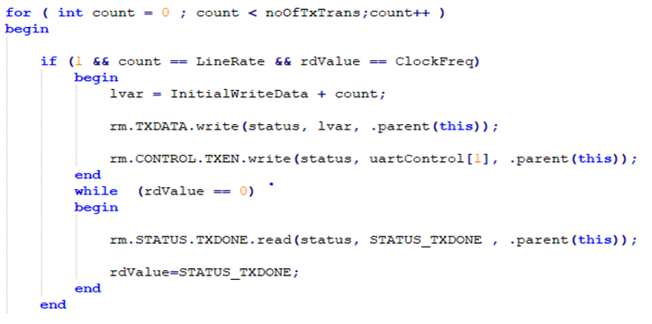 Example UVM Sequence with HSI Description