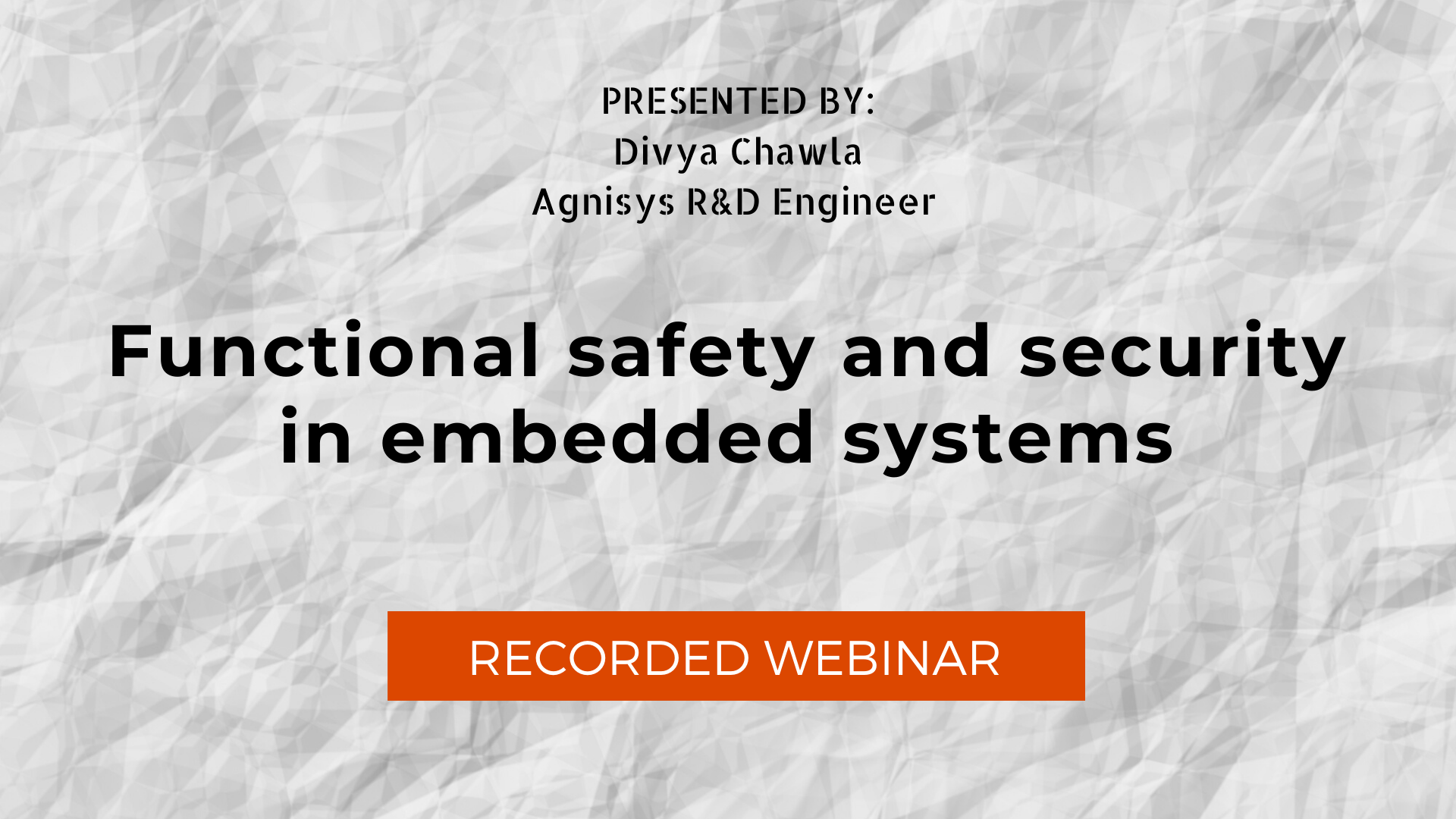 Functional safety and security in embedded systems